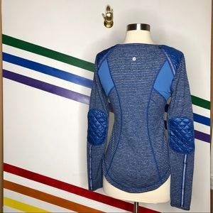 Lululemon quilted patch long sleeve top